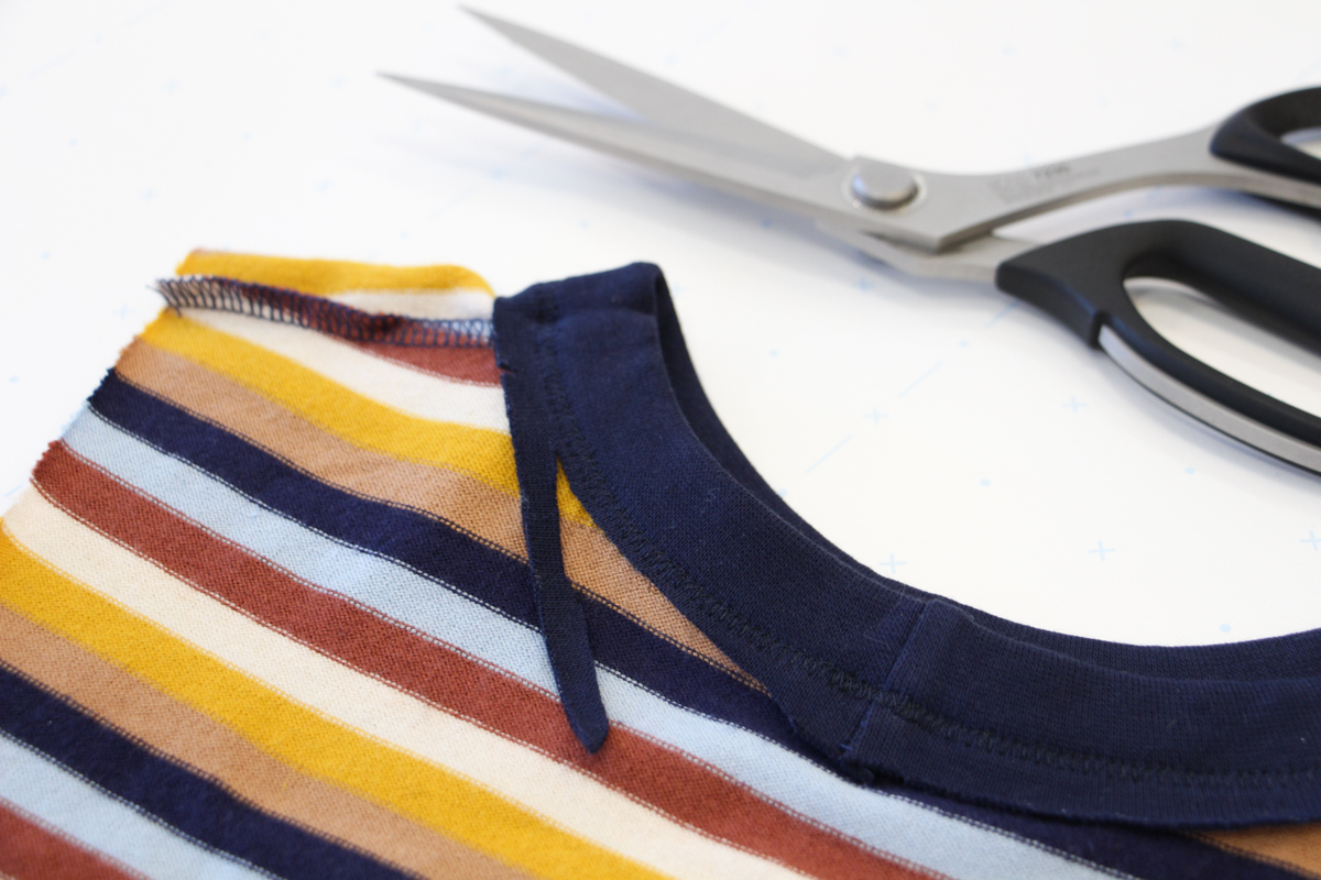 How To Make A Rowan Ringer Tee - Trim Any Excess Bind Away
