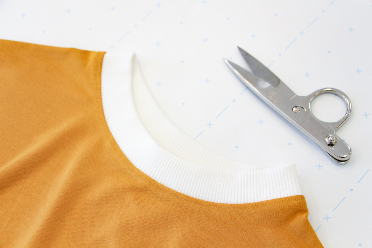 How To Make A Rowan Ringer Tee - Pressing your Neckband