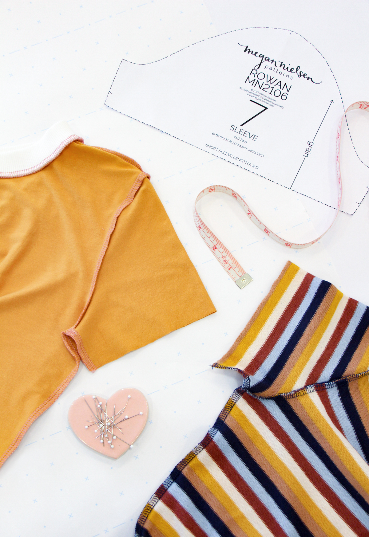 How To Make A Rowan Ringer Tee - Sleeves & Side Seams