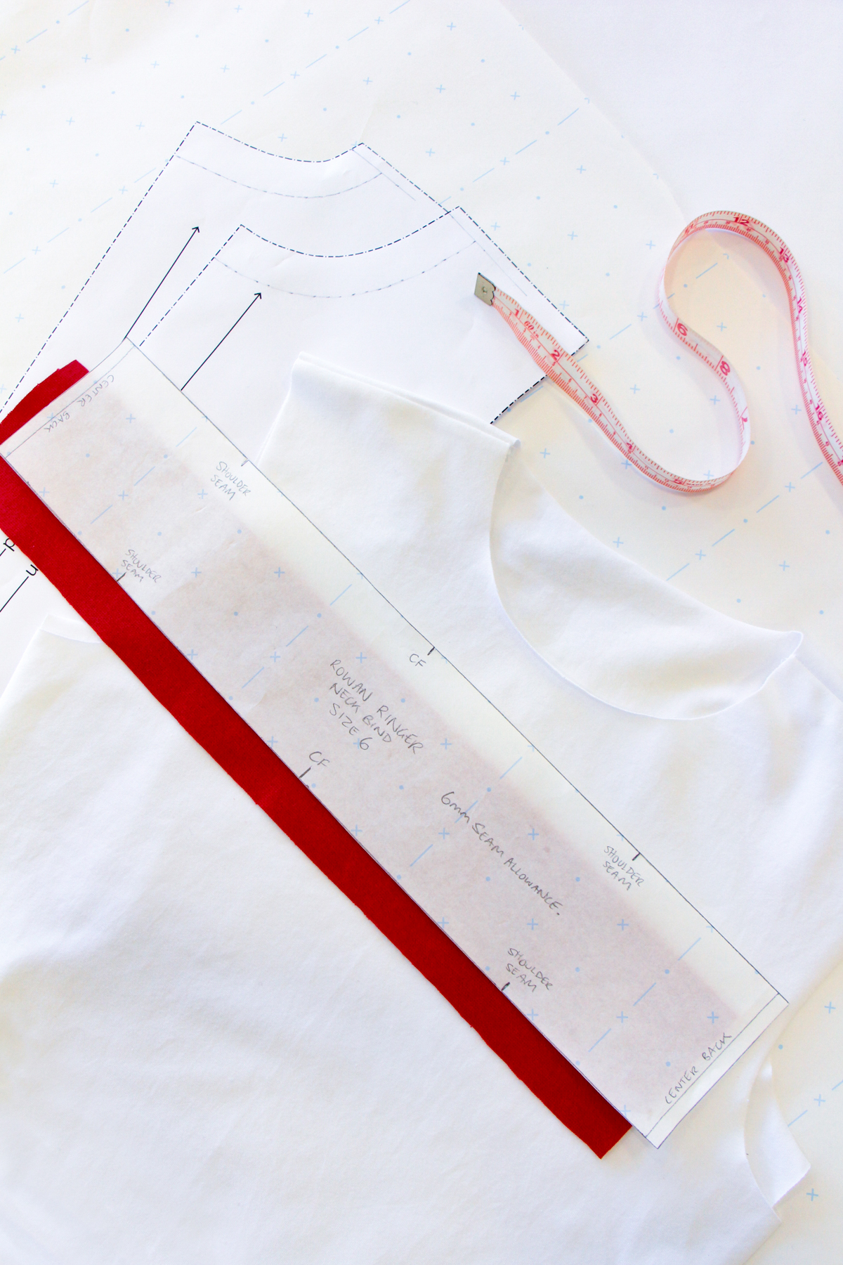 How To Make A Rowan Ringer Tee - Method 2 - The Megan Nielsen Neckbind
