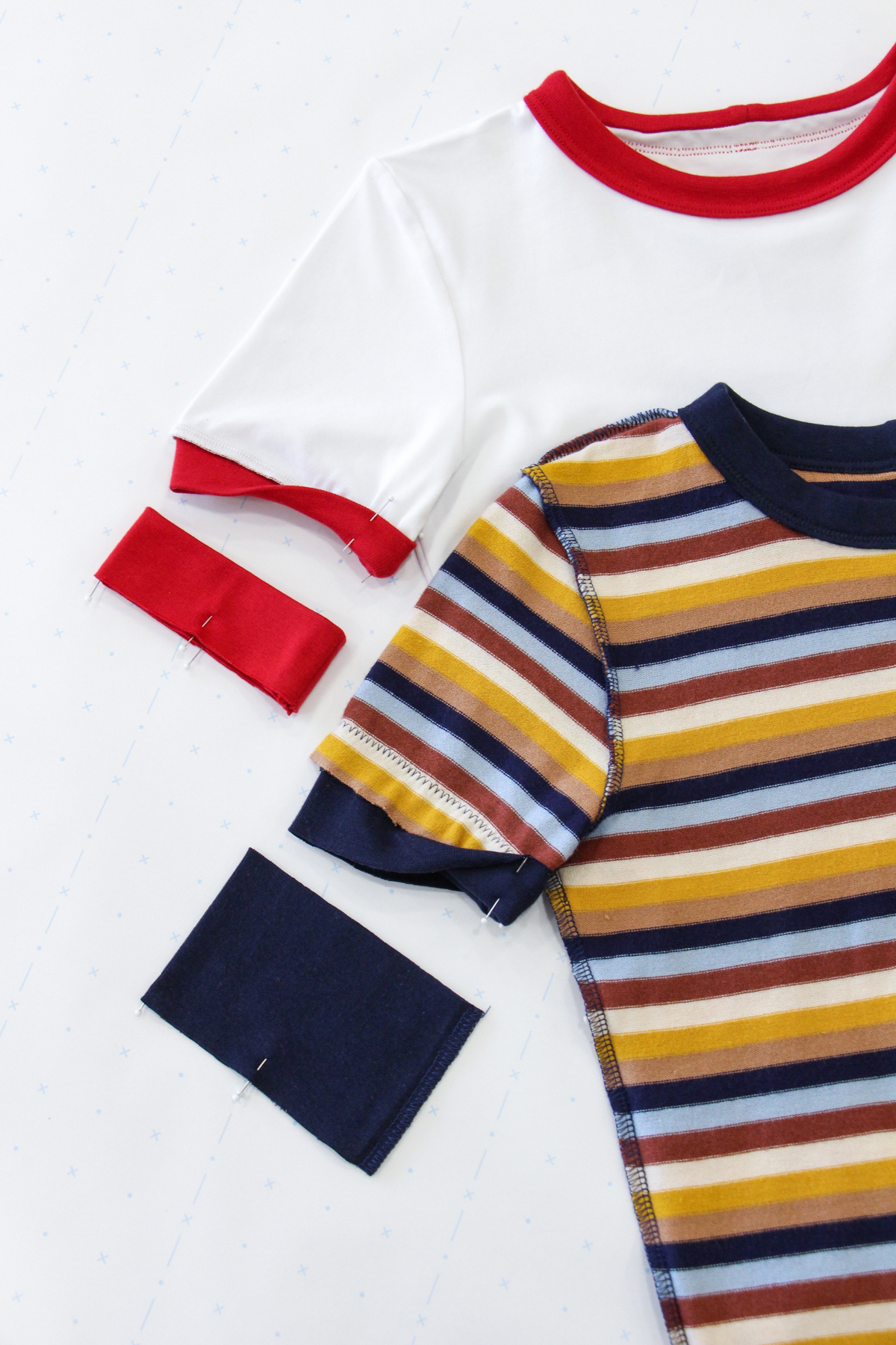 How To Make A Rowan Ringer Tee - Method 2 & 3 - Sleeve Binds