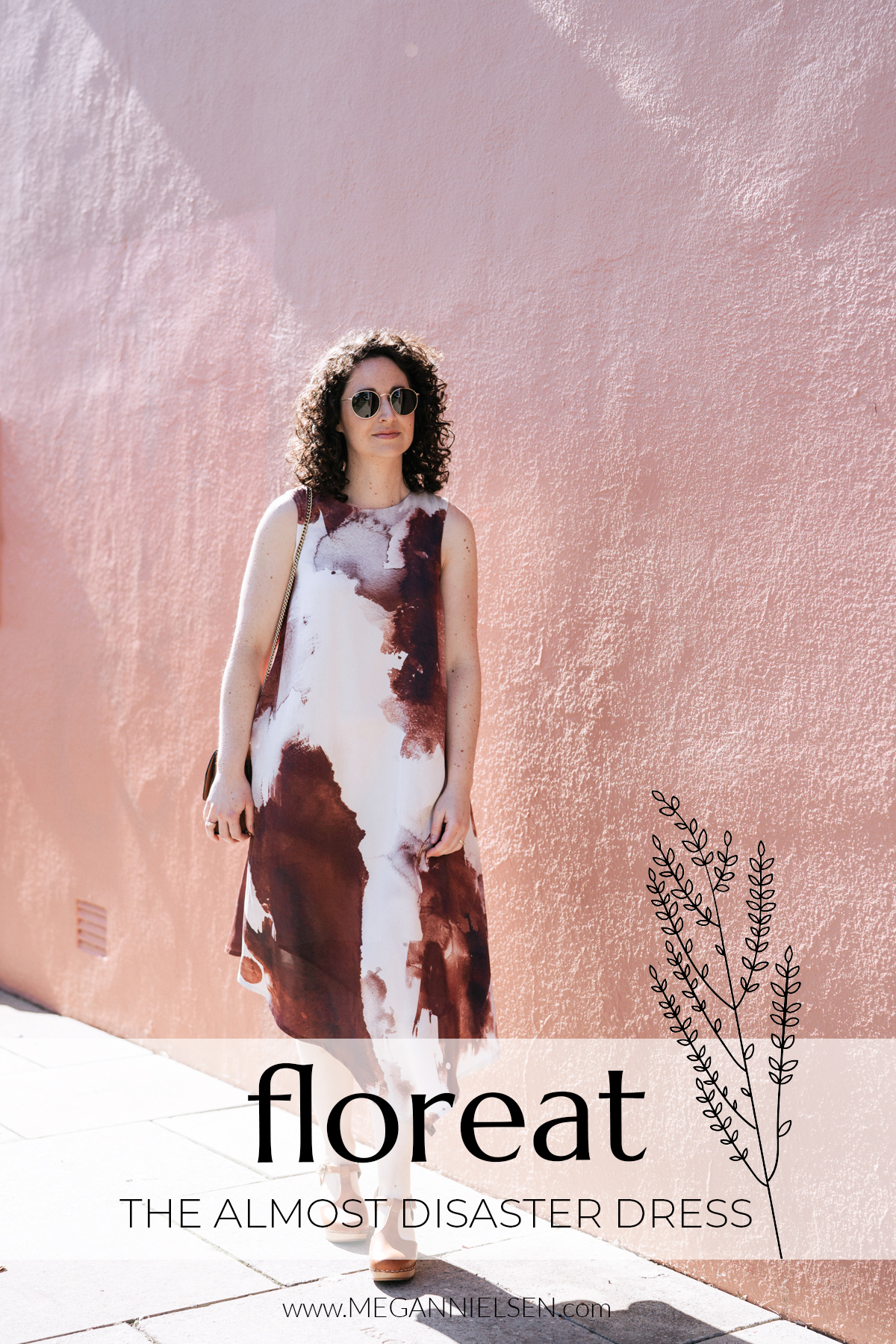 The almost disaster Floreat dress | Floreat dress made from designer silk remnants