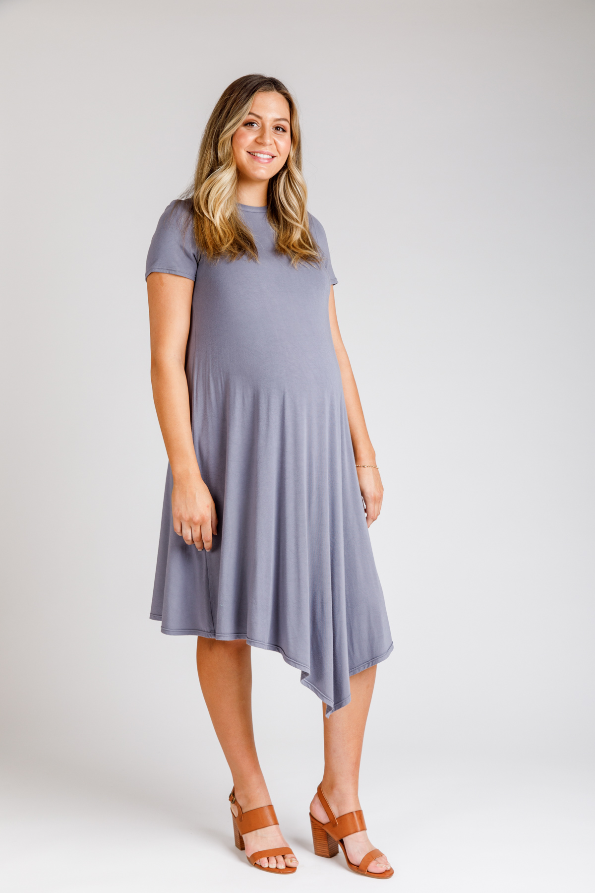 Try the Floreat dress and top pattern as maternity wear!