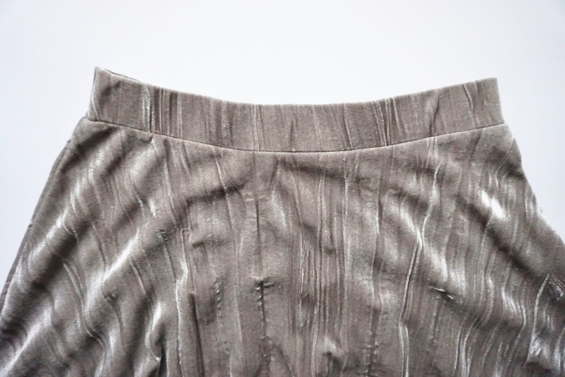 You may either hem the skirt at this point or leave it raw