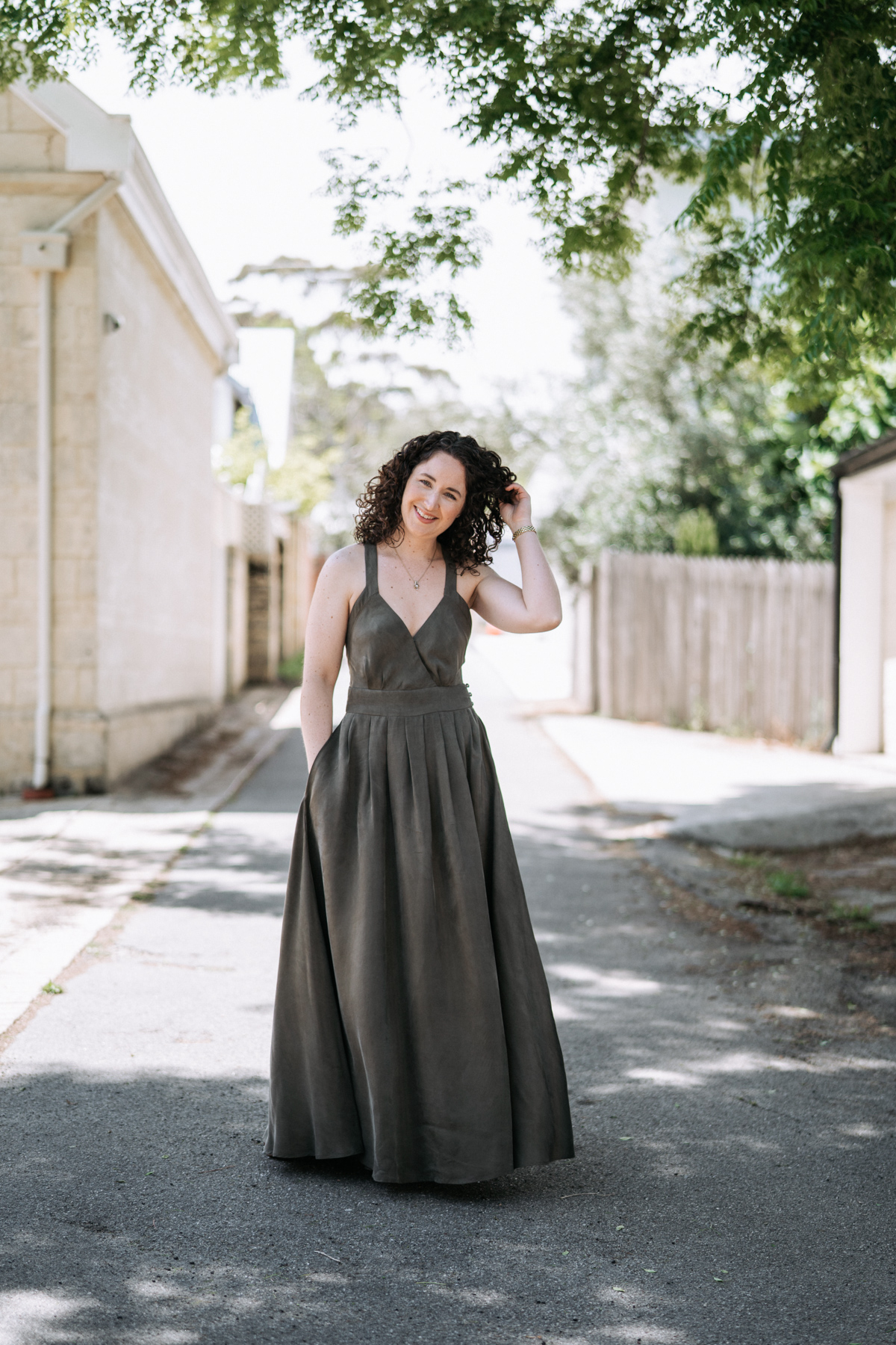 Megan Nielsen Nora dress for the 40 under 40 Awards evening