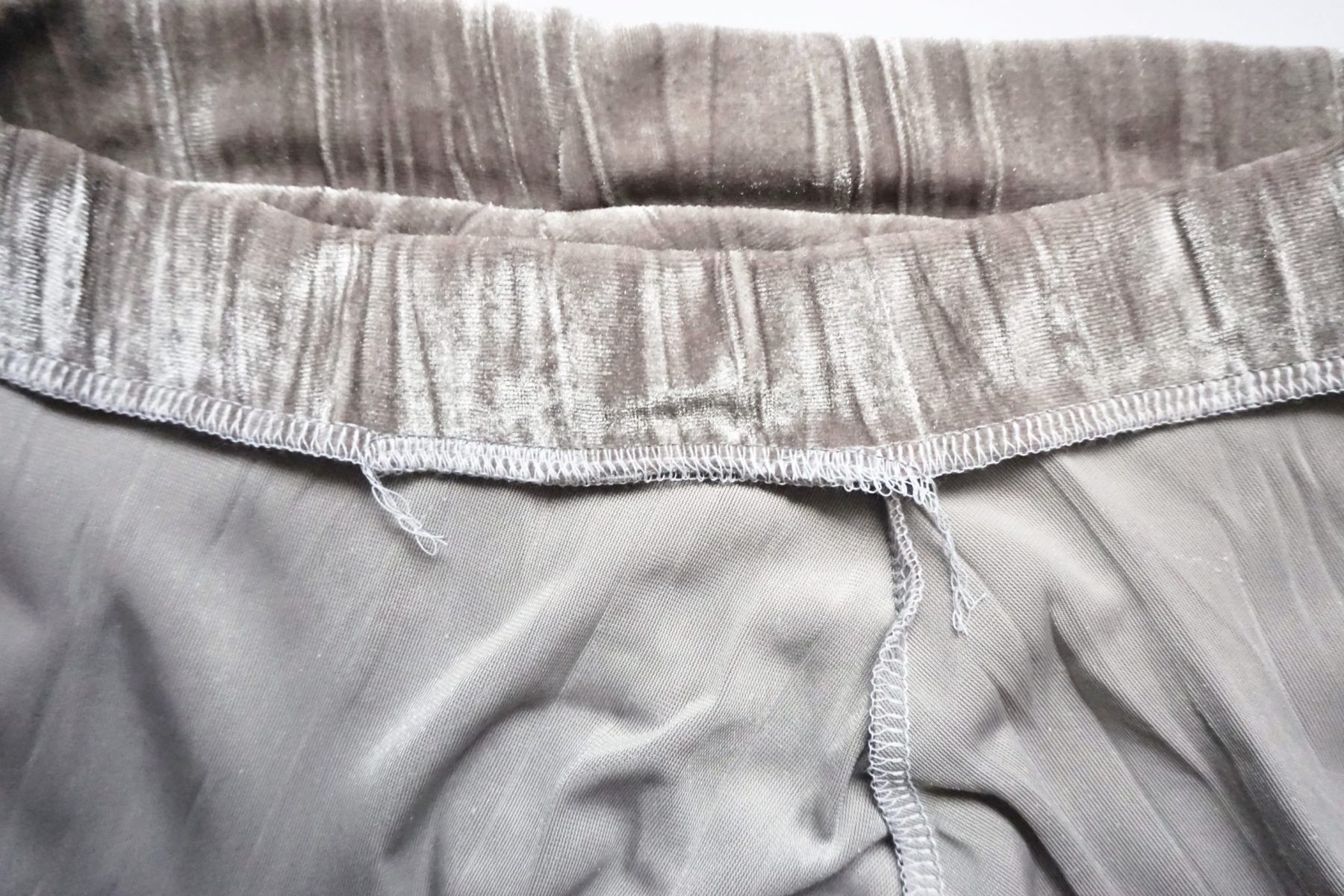 Now close the gap in the waistband seam.