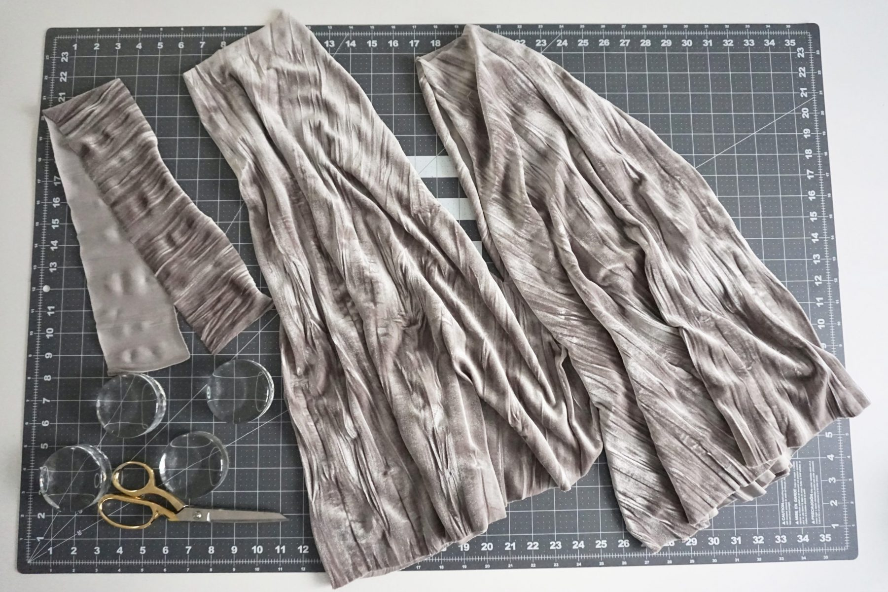 You will just need to cut out the front and back skirt pieces and the wide waistband.