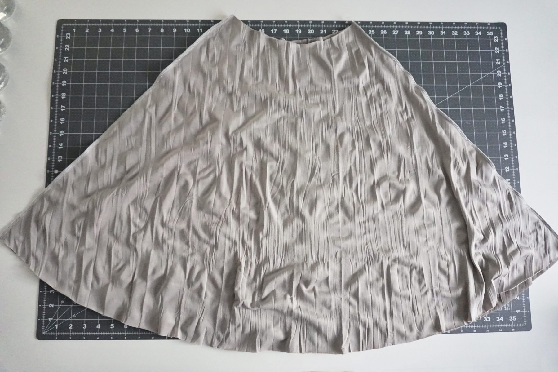 """Sew or serge the side seams with a 5/8"""" seam allowance."""