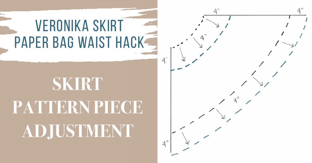Skirt pattern piece adjustment