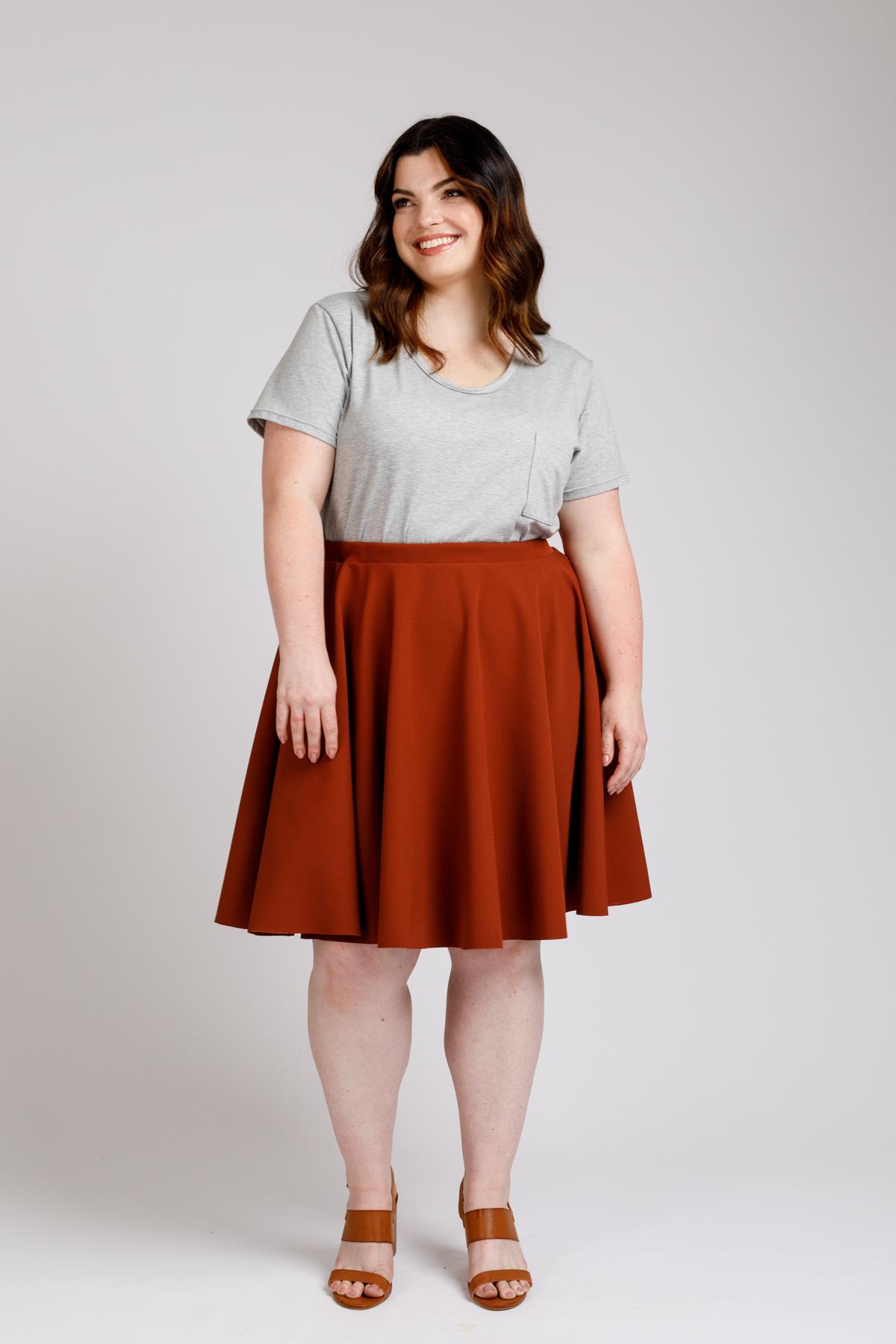 Veronika Curve skirt View C
