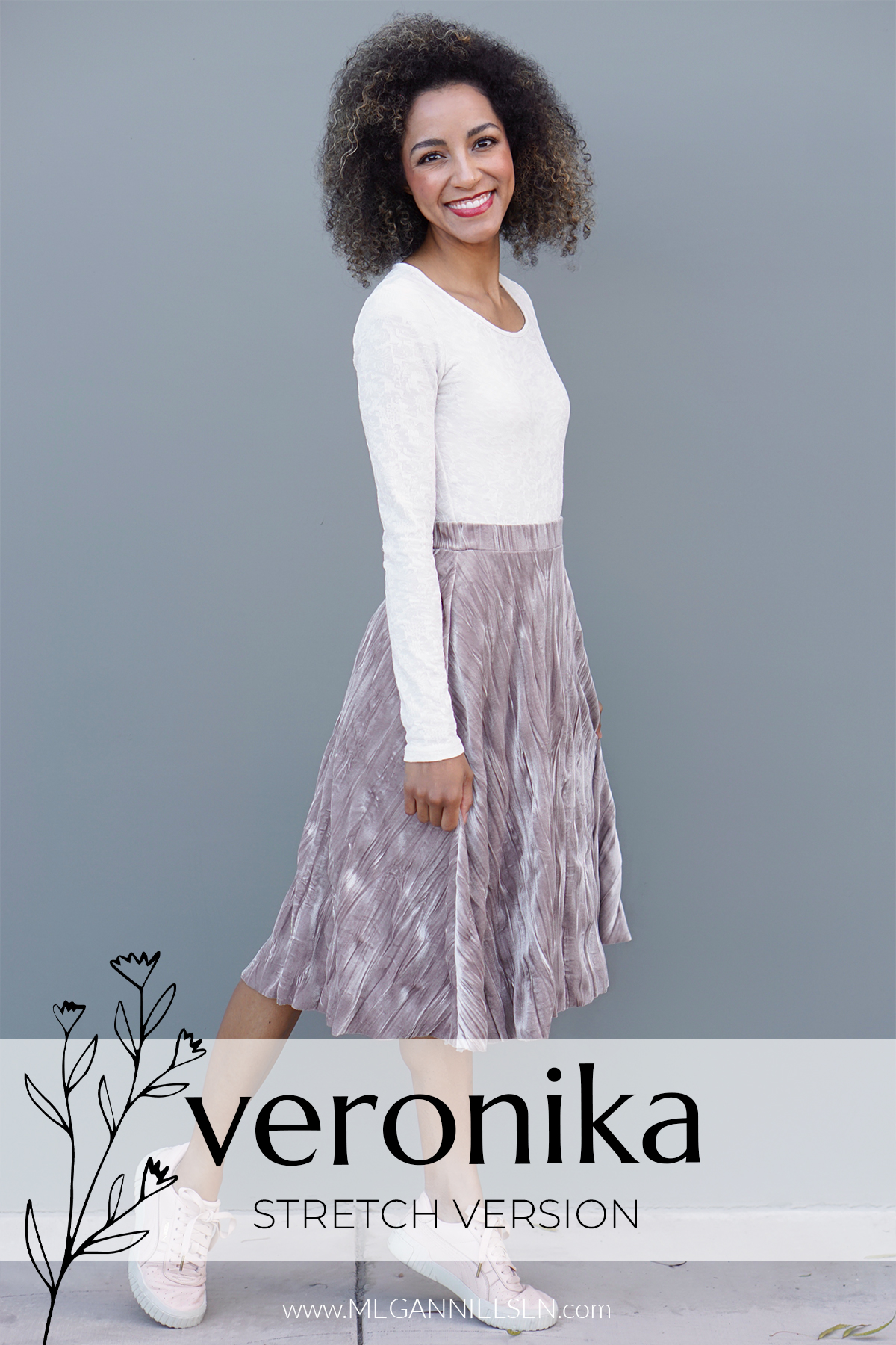 How to sew the stretch Veronika skirt