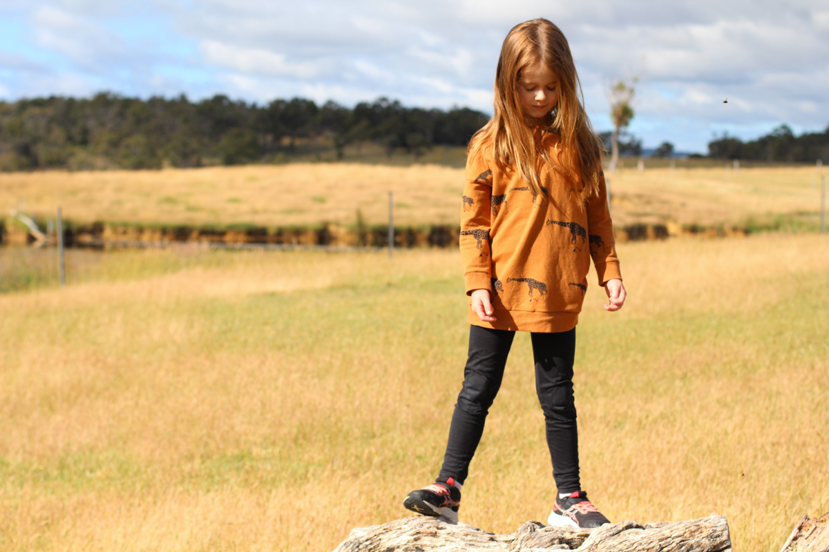 Giraffe Mini Jarrah Sweater Dress | Megan Nielsen Blog