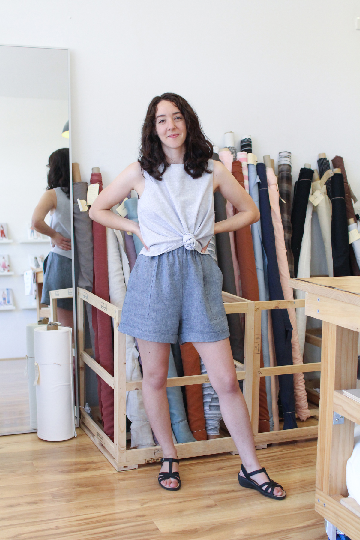 Megan Nielsen Patterns - New Opal Shorts & The Perils Of Working In A Fabric Store