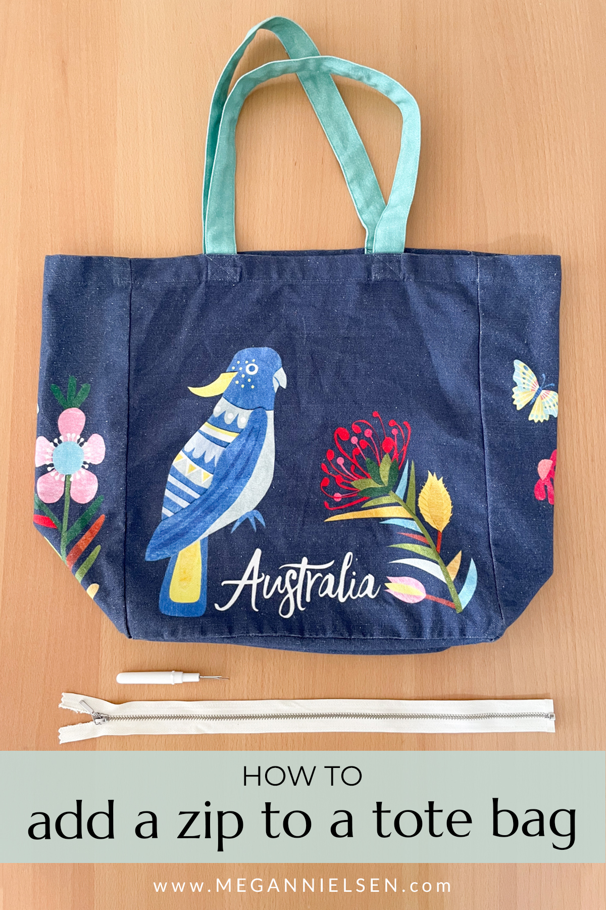 How to Add a Zip to a Tote Bag | Megan Nielsen Patterns Blog
