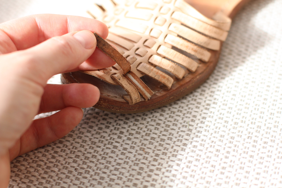 Replicating my favourite sandals: the damage