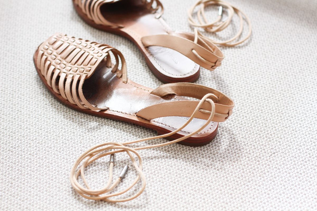 Replicating my favourite sandals: side shoe details