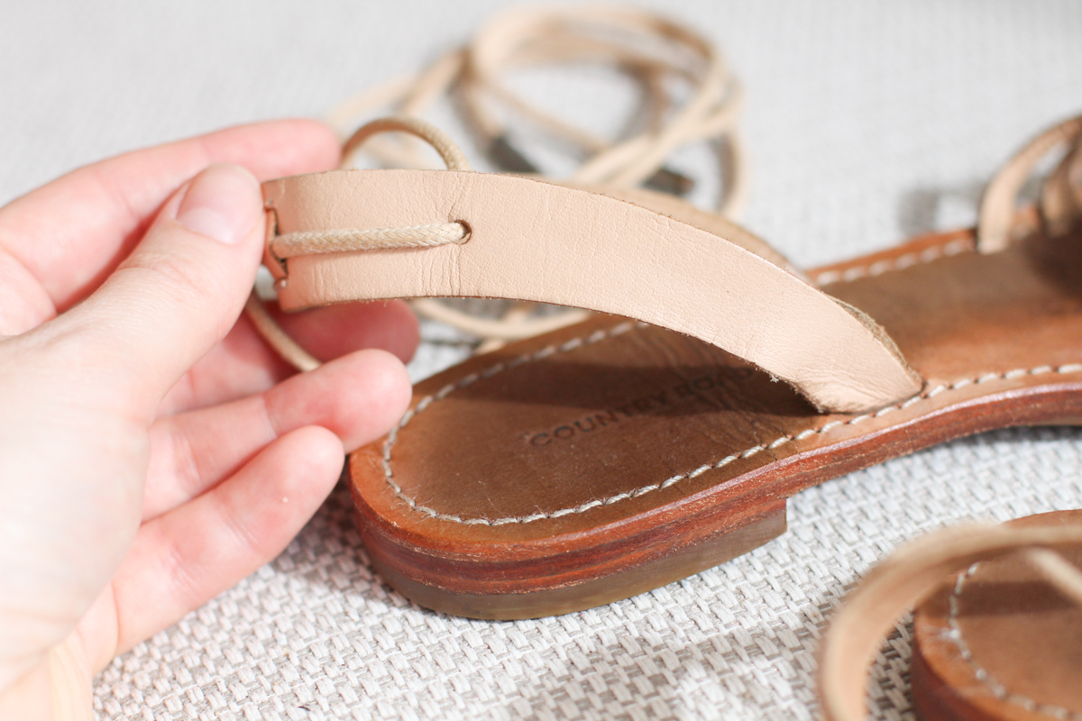 Replicating my favourite sandals: strap details