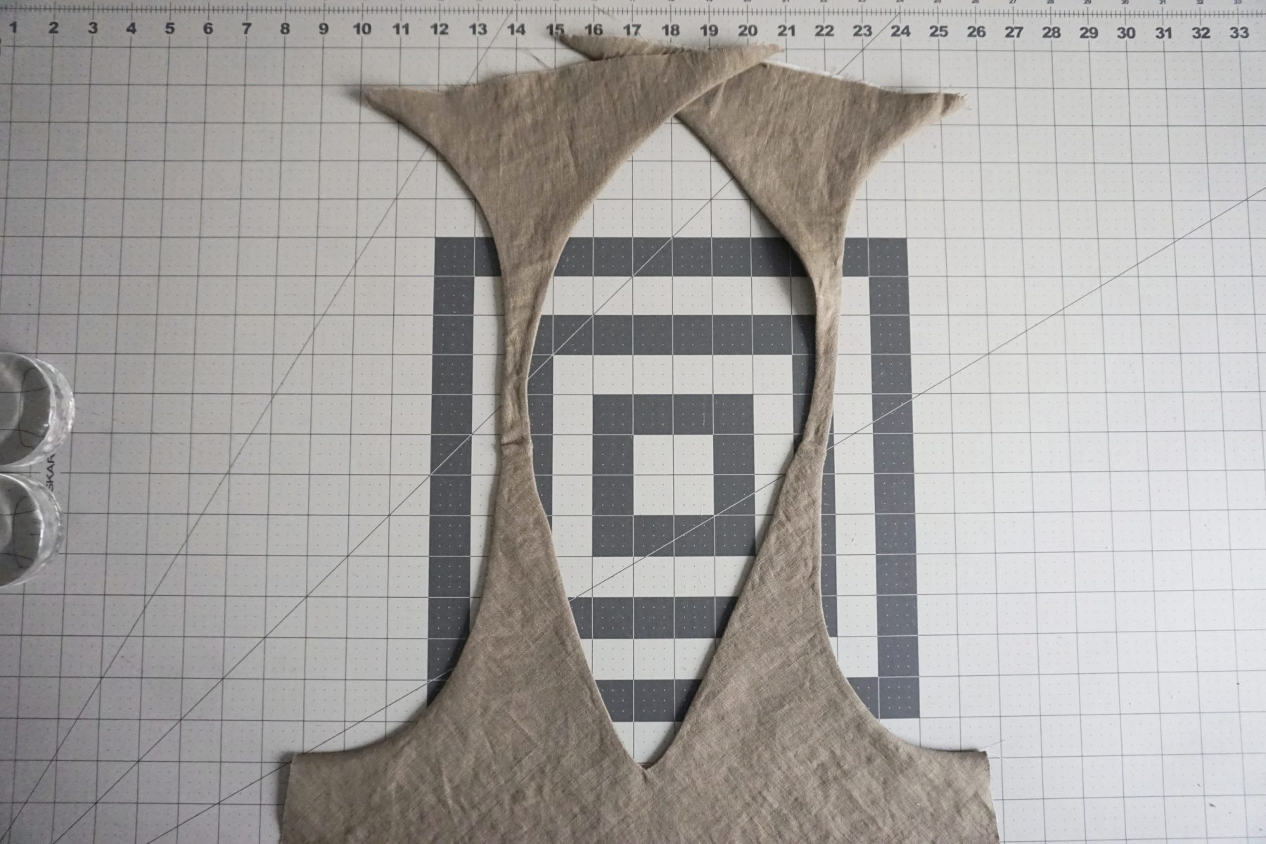Turn the camisole front right side out