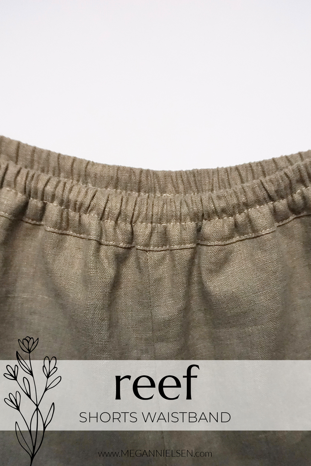 Reef Sewalong How to sew the shorts waistband
