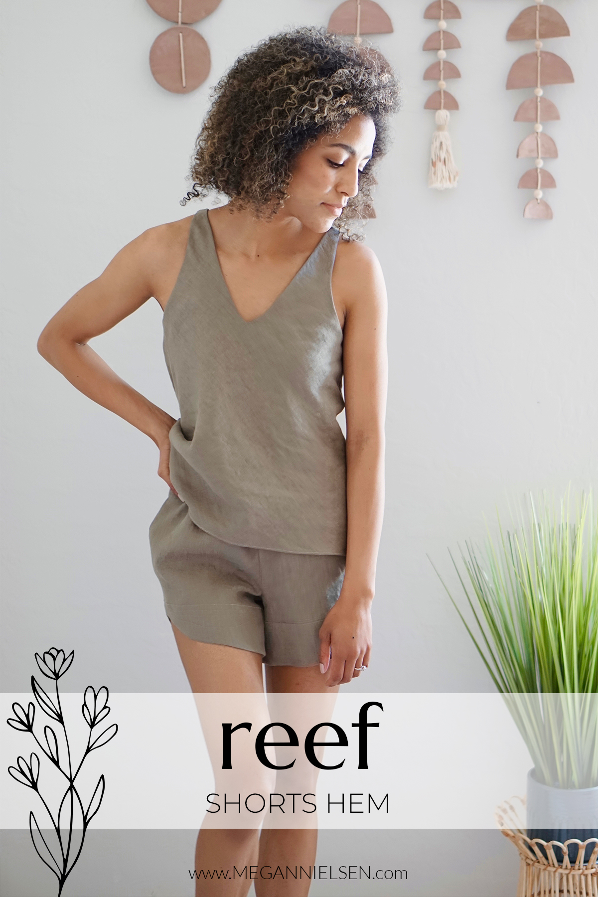 Reef Sewalong how to sew shorts hem