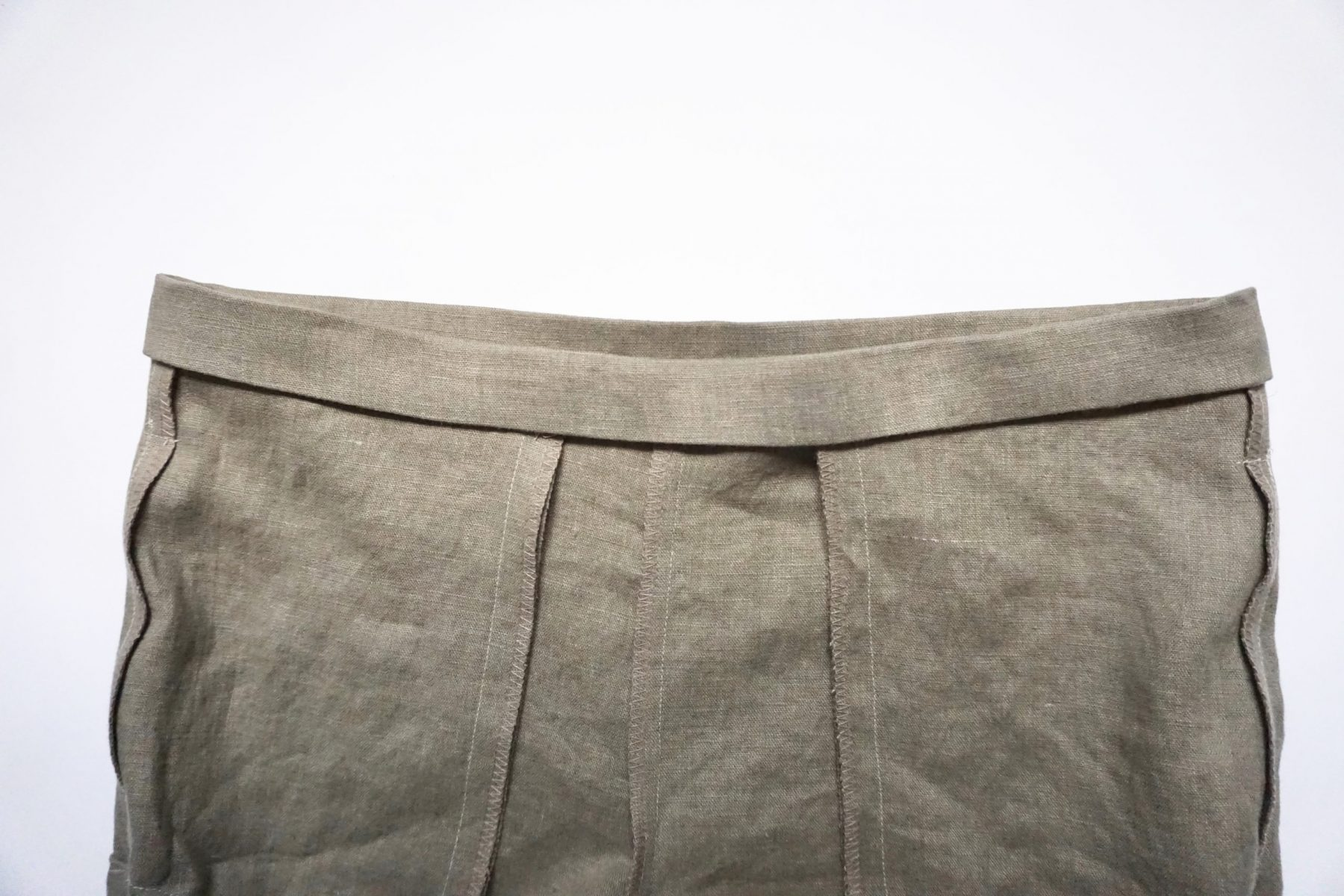 Fold the remaining waistband edge down