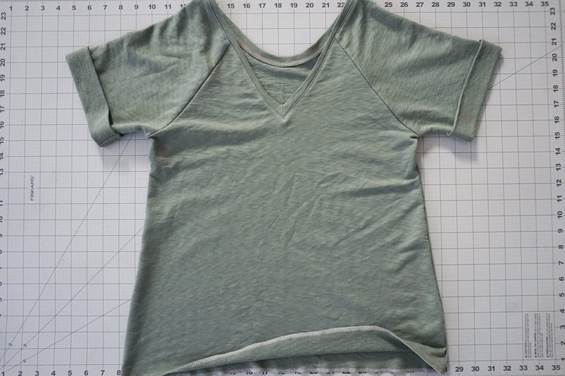 Next, you'll sew up the top, following the pattern directions.