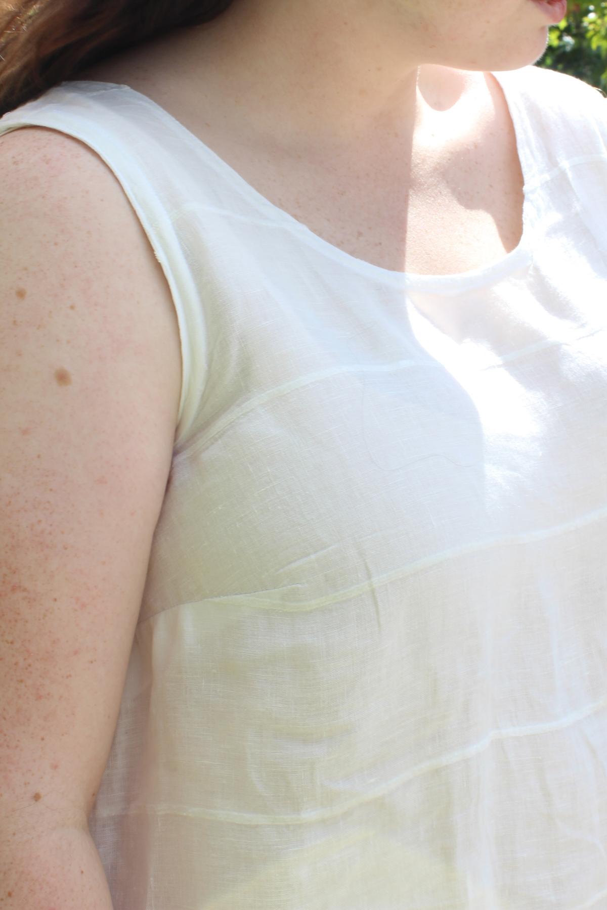 Isabelle's Eucalypt dress dart | Beginner Sews Series on Megan Nielsen Patterns Blog