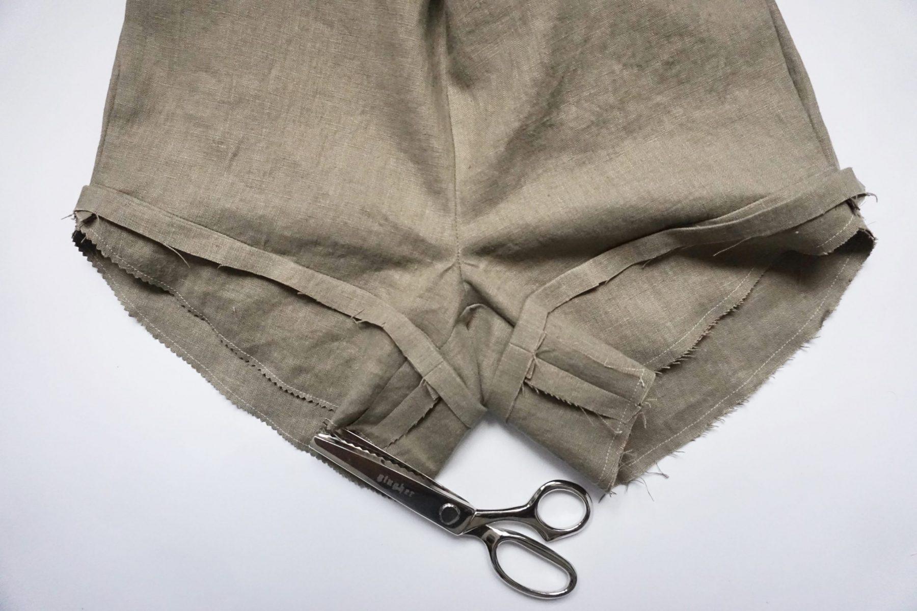 """Sew along the hemline with 1/4"""" (6mm) seam allowance."""