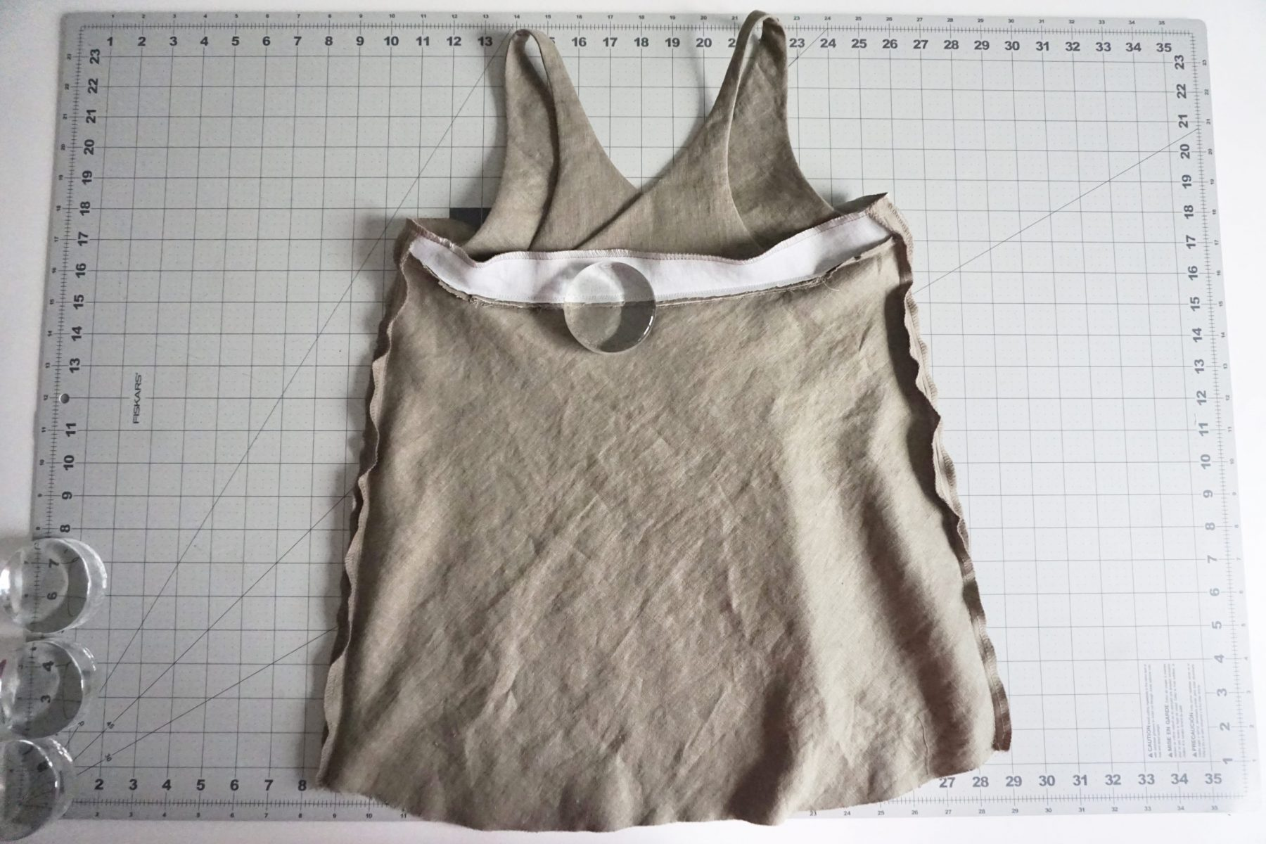 After it is basted, try on your camisole!