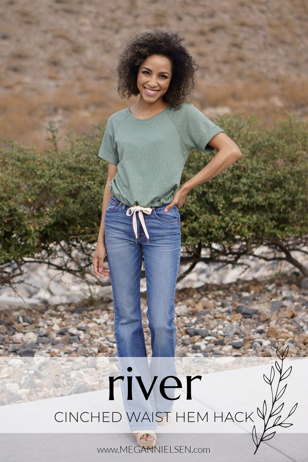 River cinched hem hack titled card