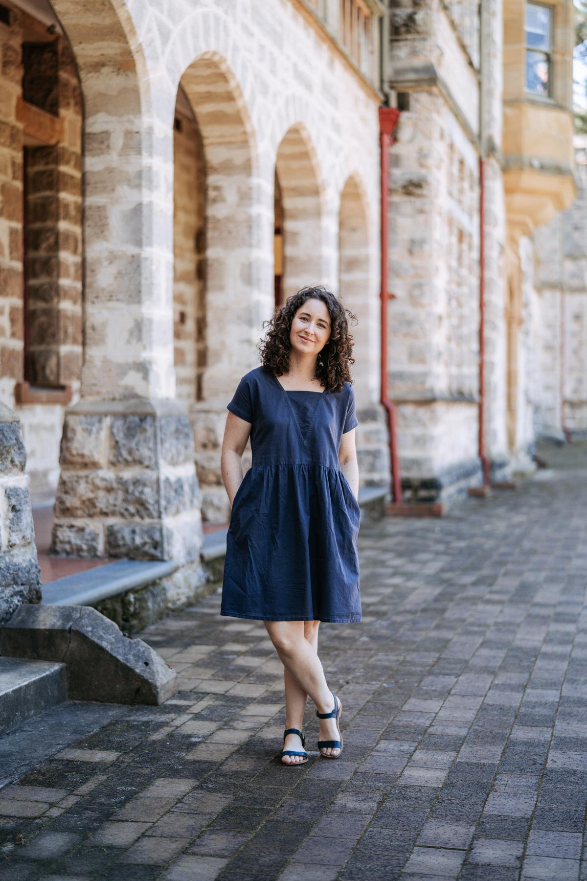 Megan Nielsen Olive dress development changes