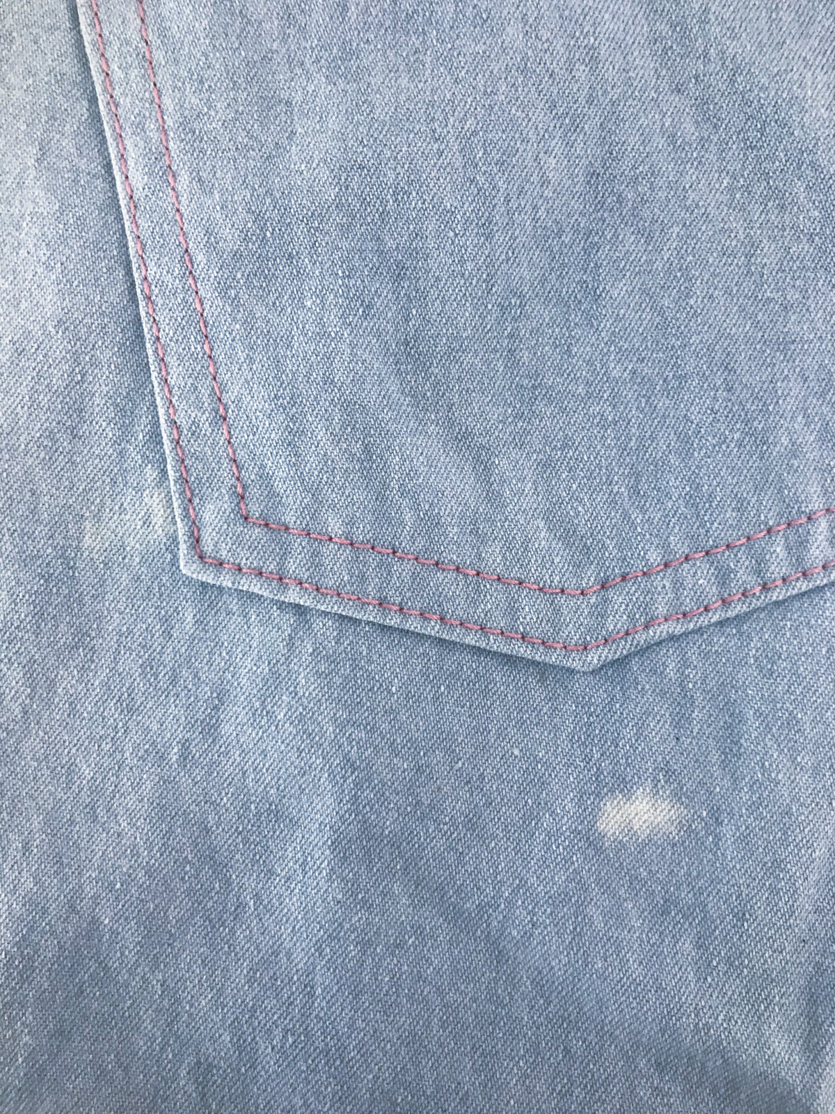 The damage - Covering Stains with Embroidery | Geraldton Wax Embroidered Dawn Shorts