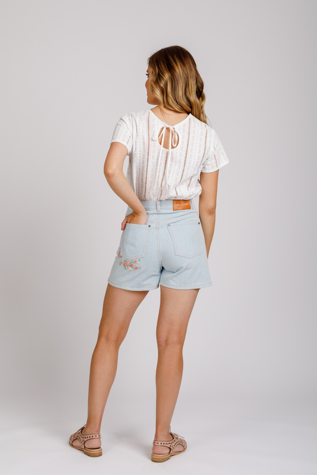 Covering Stains with Embroidery | Geraldton Wax Embroidered Dawn Shorts