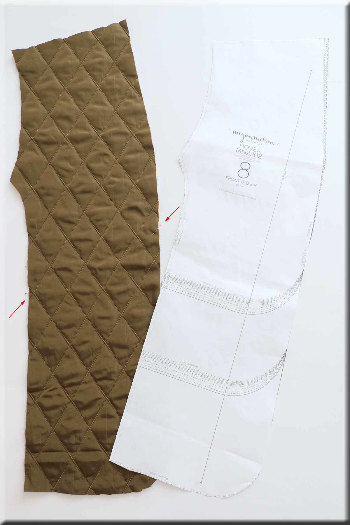 how to sew the pockets and seams of view BDF of the Hovea sewing pattern by Megan Nielsen Patterns