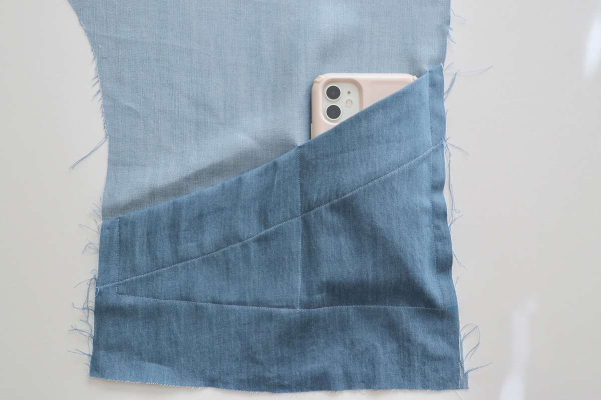 how to sew the unlined pockets of views ACE on the Hovea sewing pattern by Megan Nielsen Patterns