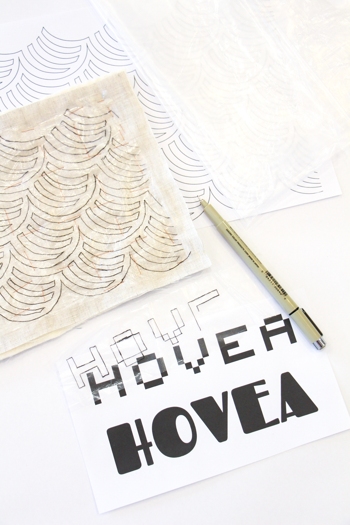 Megan Nielsen Patterns | Hovea Sewalong: Quilting Design & Planning | Soluble Interfacing Method Of Transferring Your Quilting Design