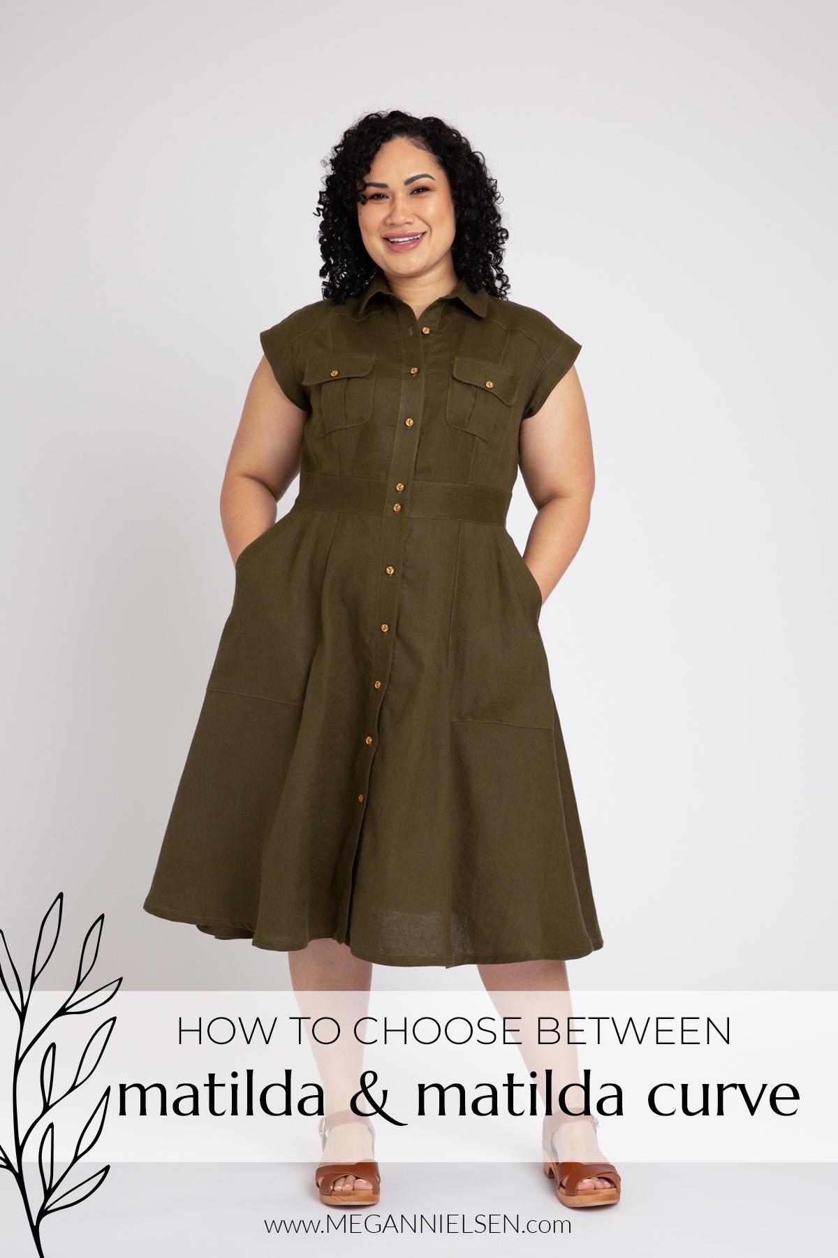 How to Choose Between the Matilda & Matilda Curve Sewing Pattern | Megan Nielsen Blog