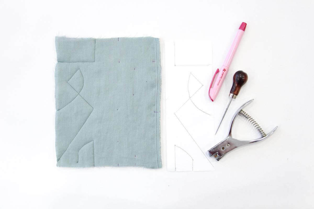 Megan Nielsen Patterns | Hovea Sewalong: Quilting Design | Marking Designs With The Dot-To-Dot Method