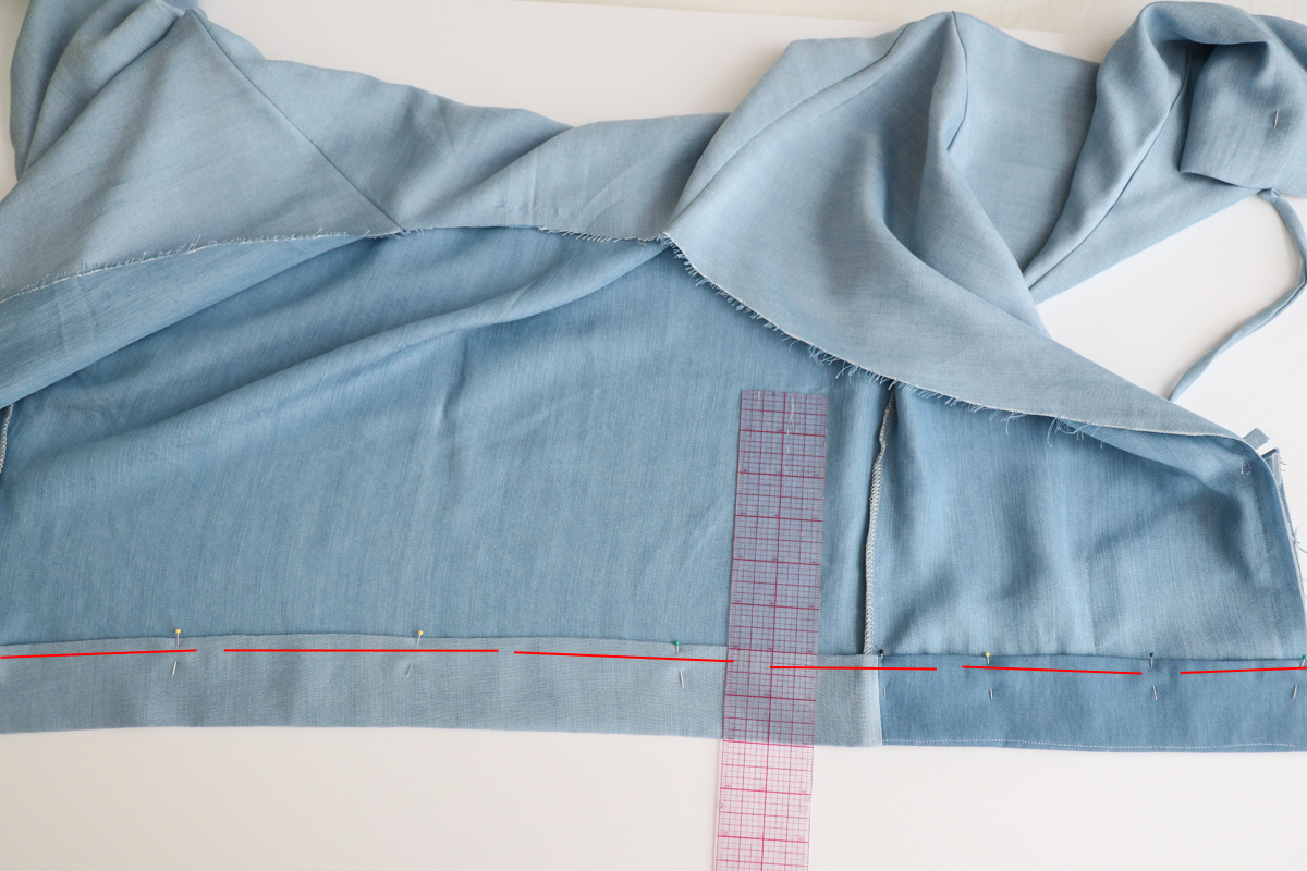 How to hem the unlined versions of views ACE of the Hovea sewing pattern by Megan Nielsen Patterns