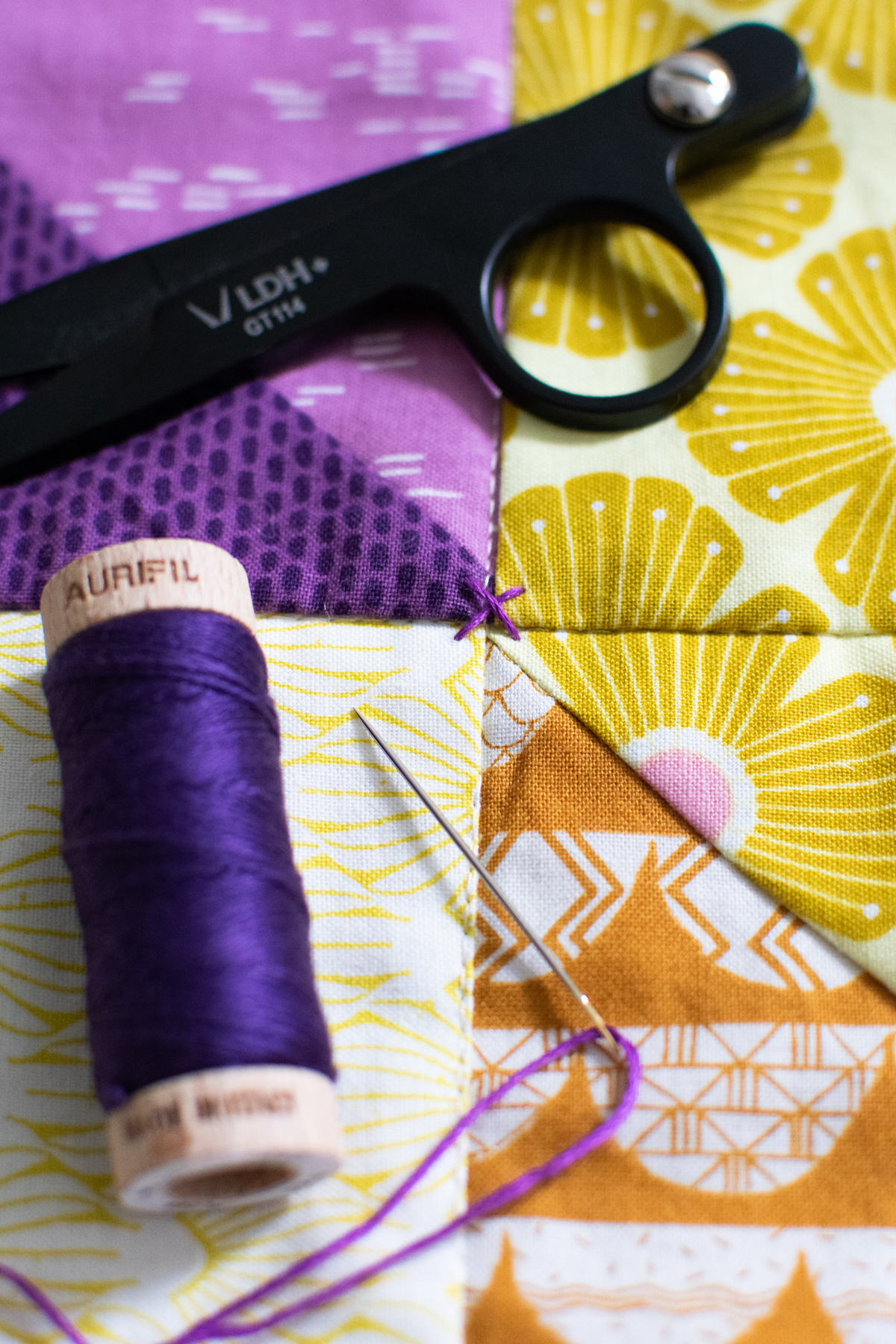 Making a patchwork design without a pattern