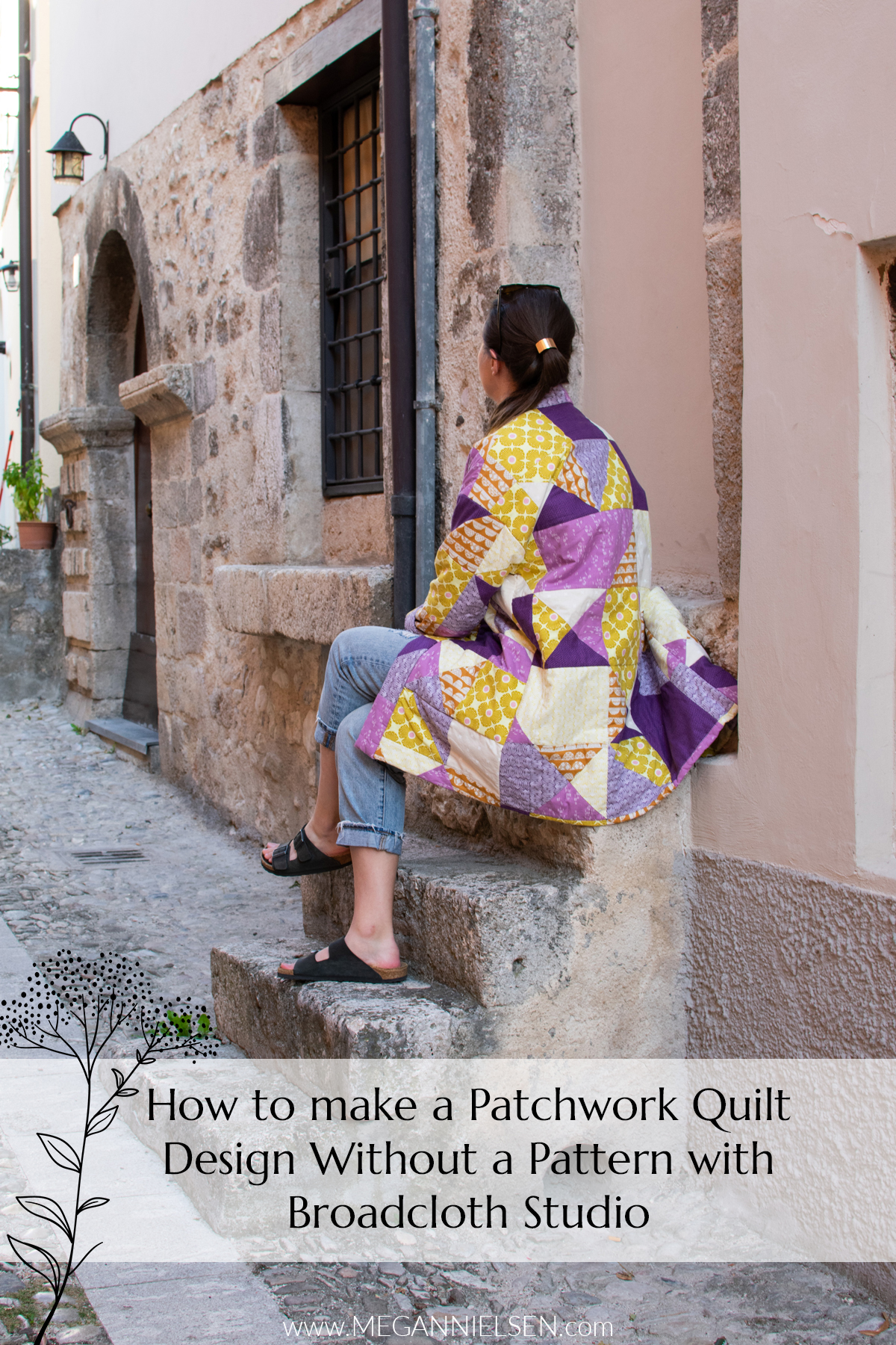 How to make a patchwork quilt without pattern