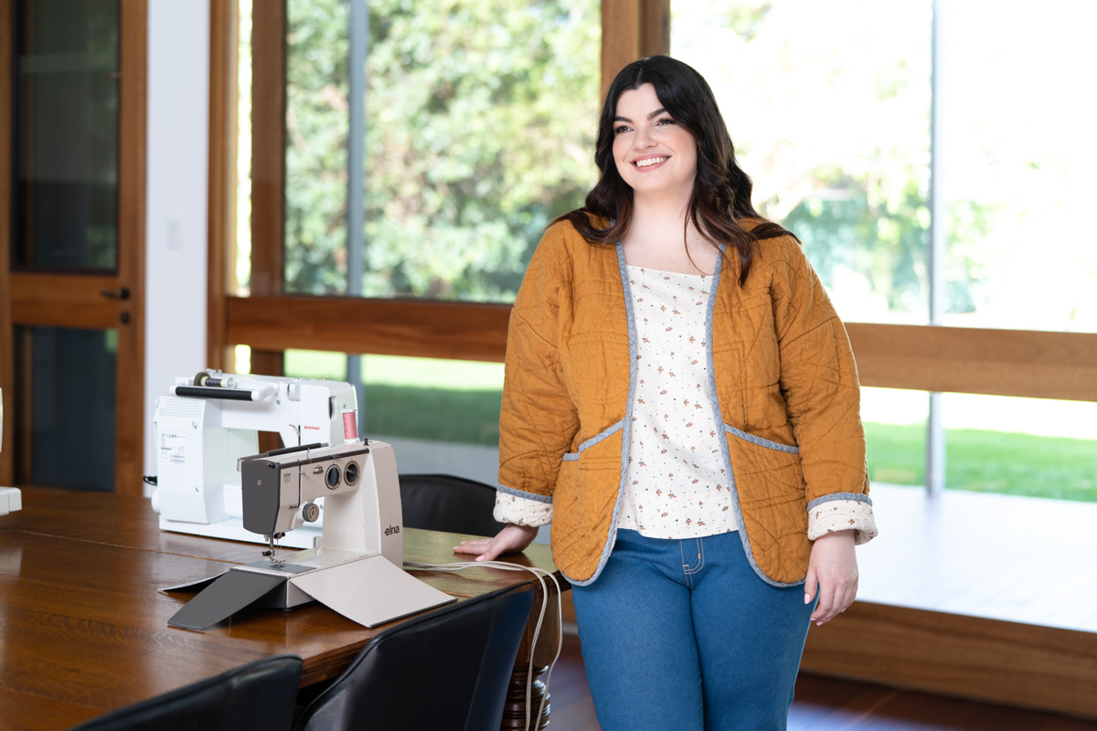 The Hovea Jacket and Coat sewing pattern from Megan Nielsen has a loose fit for layering in cold weather