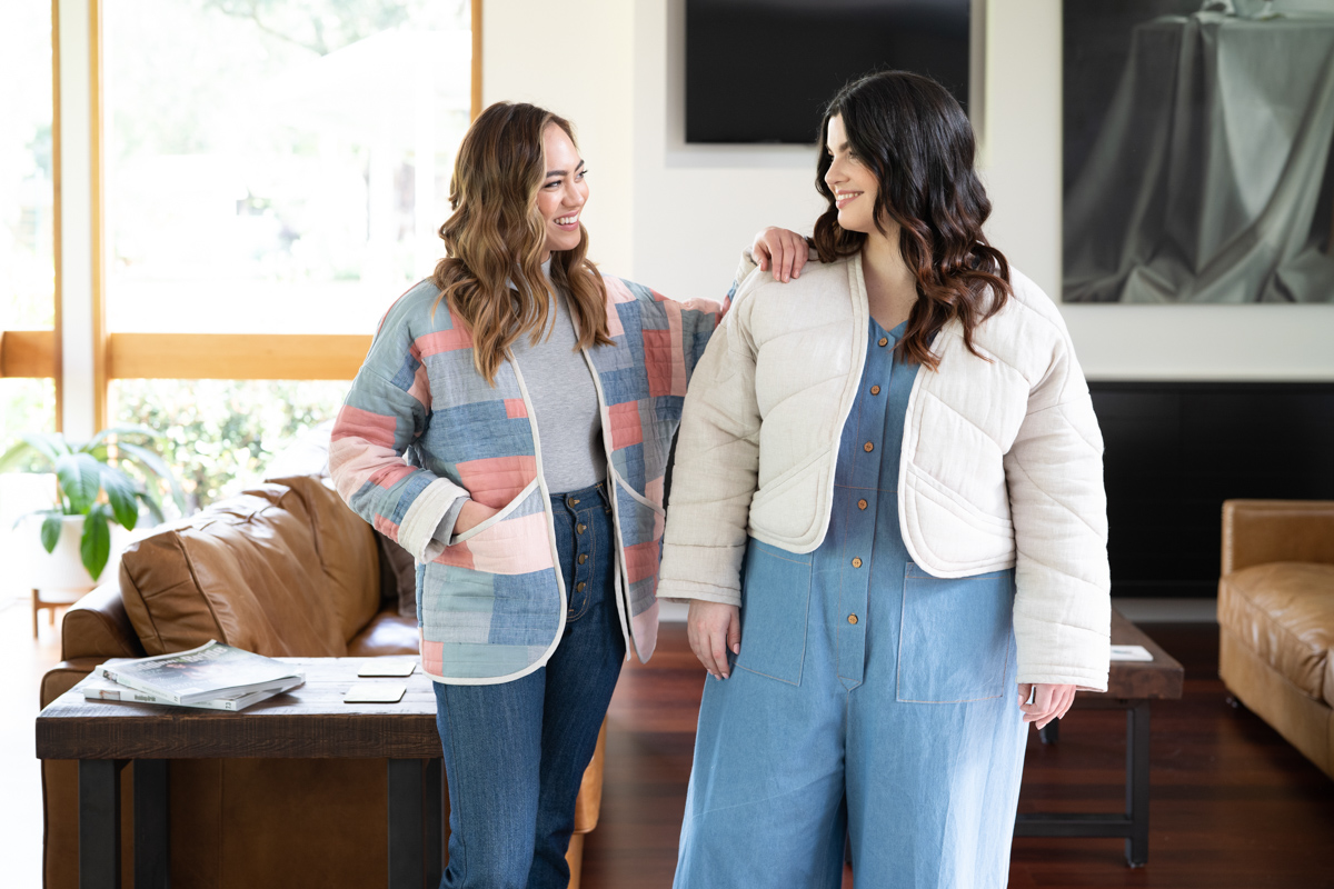 The Hovea quilt jacket sewing pattern comes in sizes 0-20 and Curve sizes 14-34!