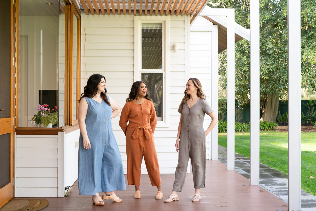 Durban Jumpsuit and Romper by Megan Nielsen Patterns available in sizes 0-20 and Curve sizes 14-34