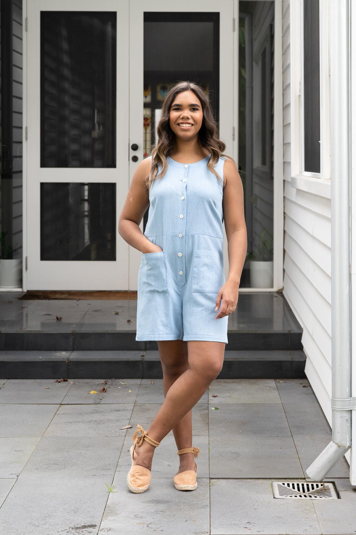 Durban Sleeveless Romper sewing pattern | Megan Nielsen Patterns