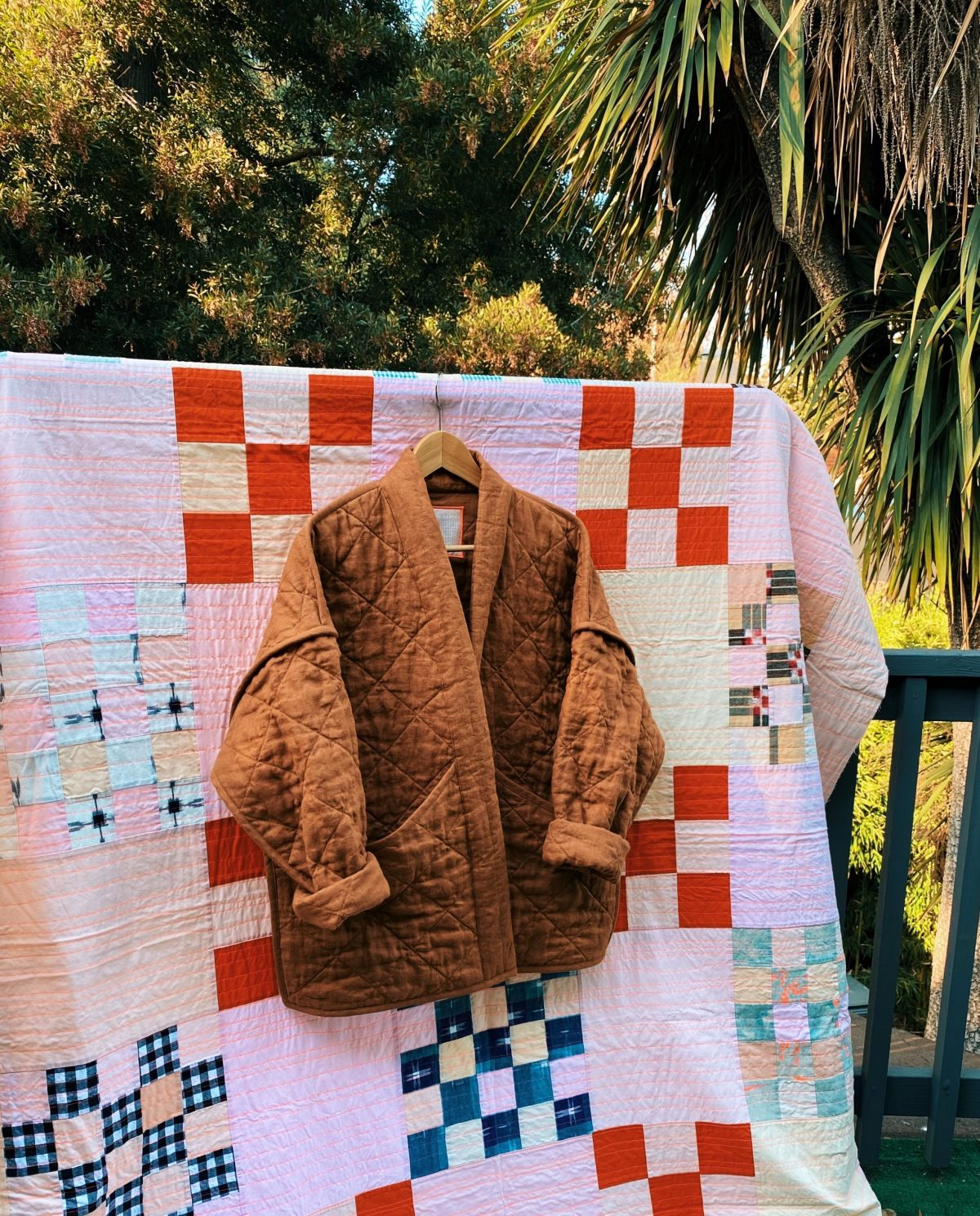 Finished quilted Hovea Jacket