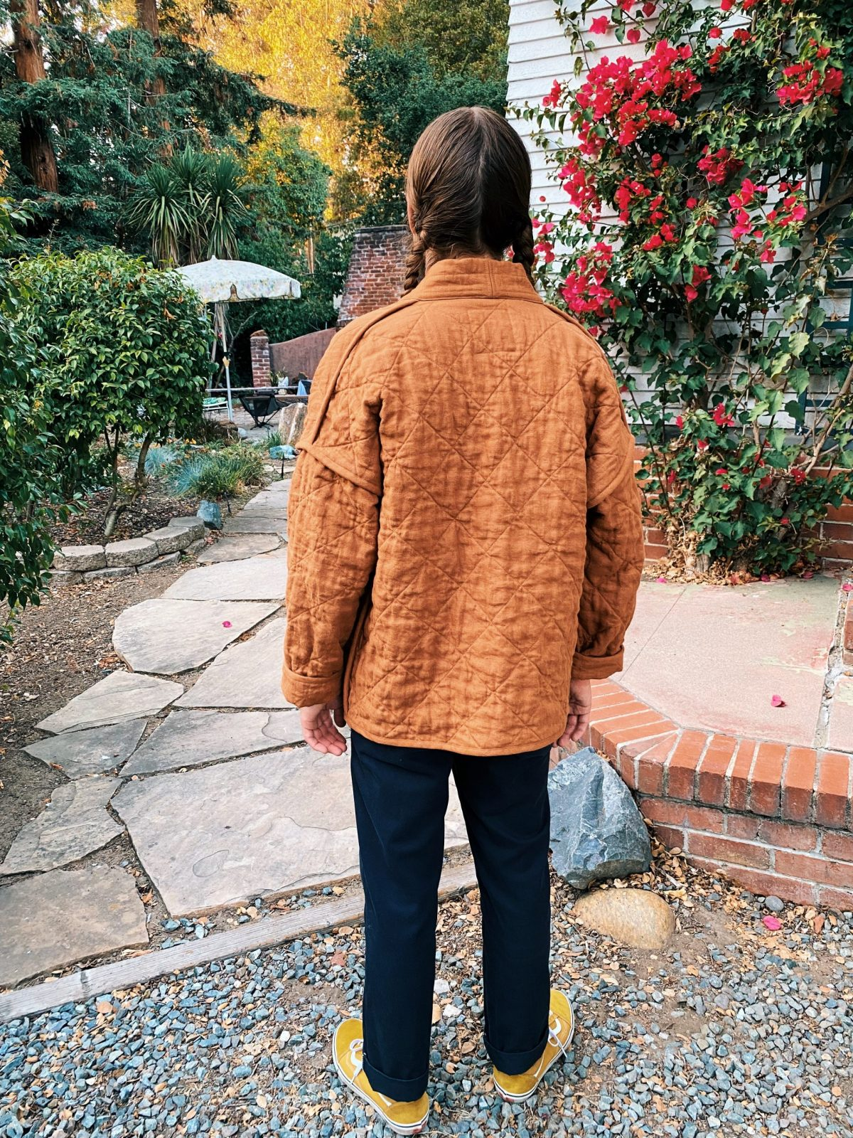 The back of the whole quilted Hovea Coat