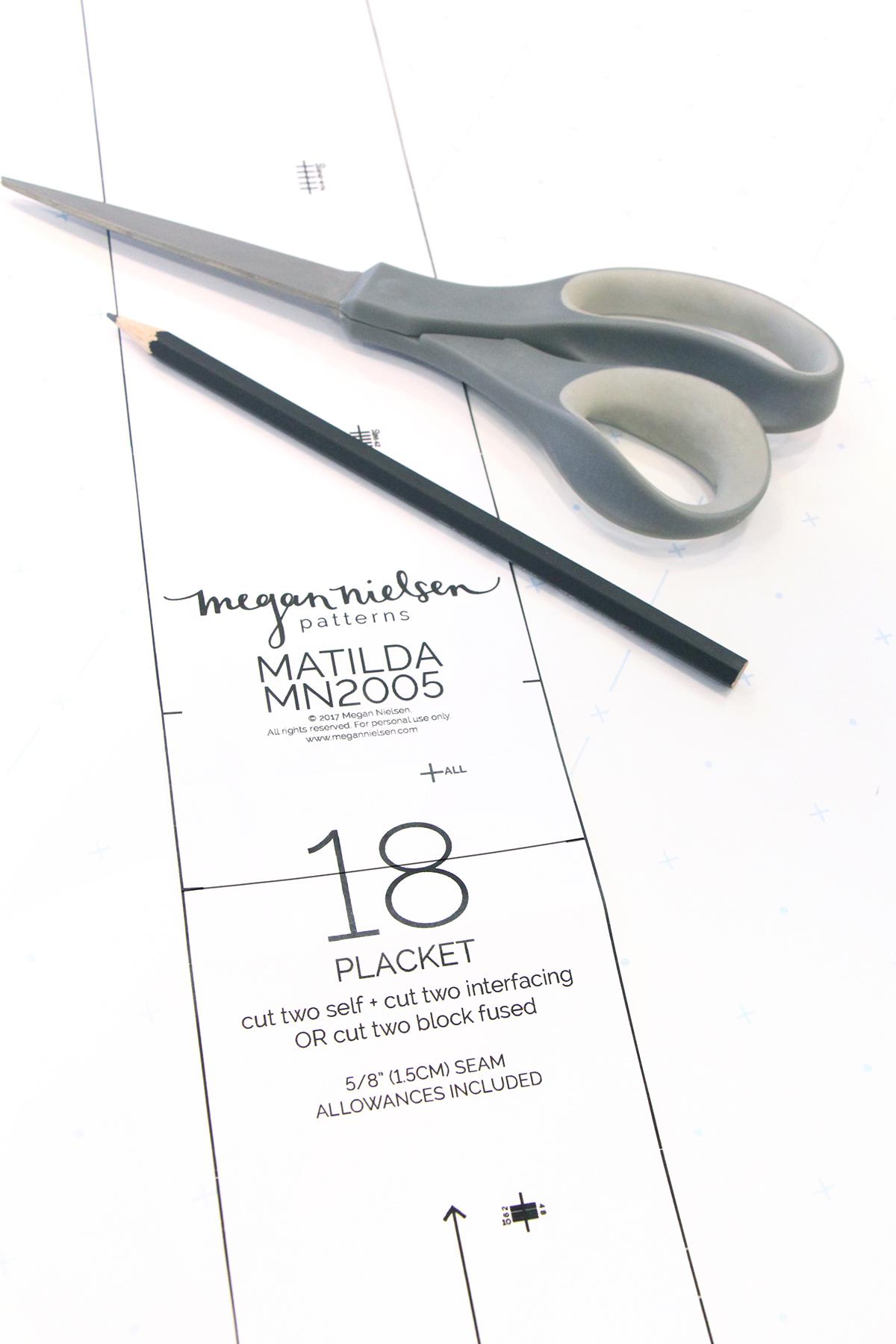 Megan Nielsen Patterns   Matilda Sewalong: Matching Set Hack   Placket Alterations