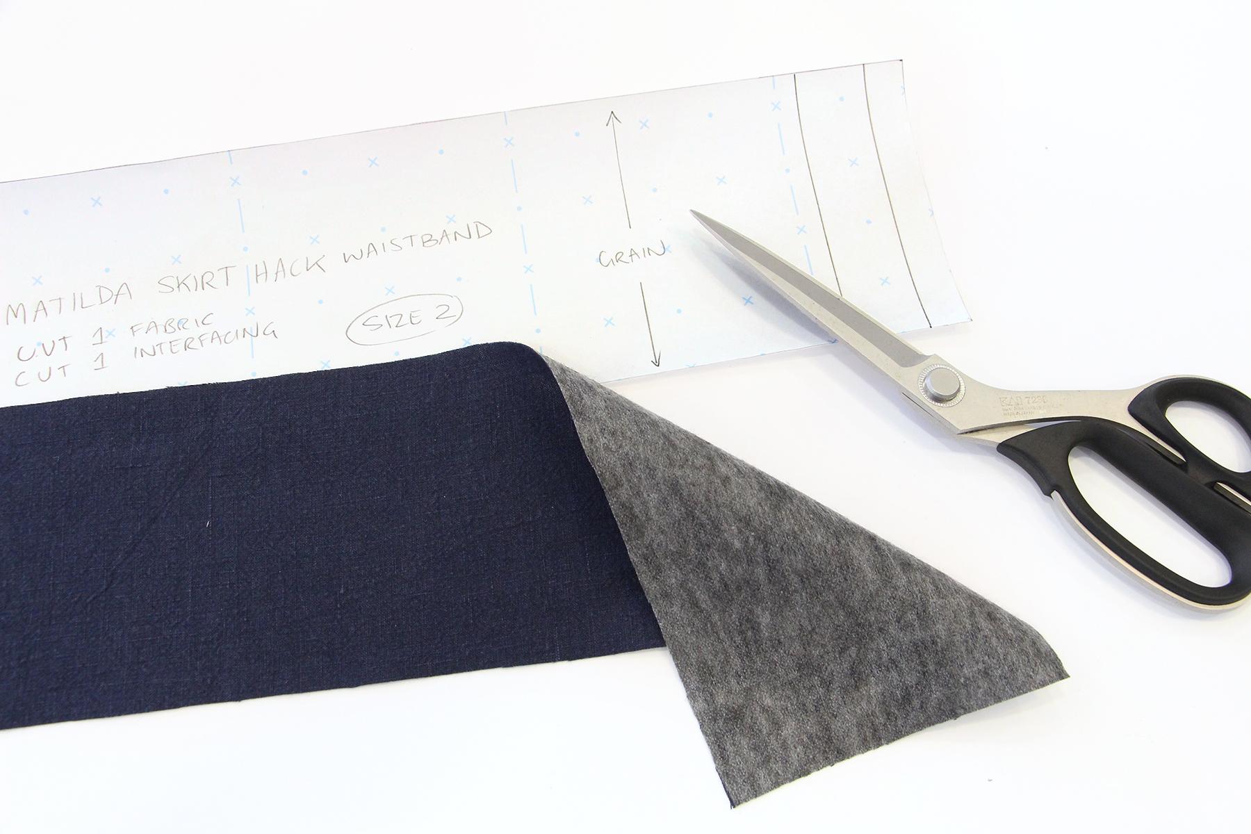 Megan Nielsen Patterns   Matilda Sewalong: Matching Set Hack   Cutting Out Your Skirt Waistband