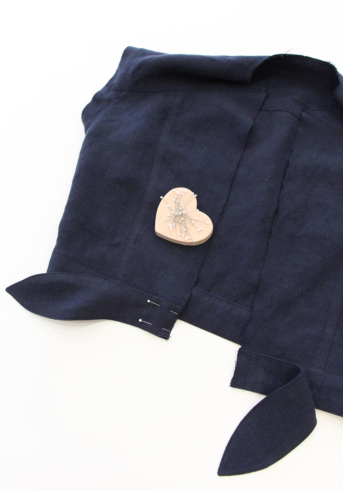 Megan Nielsen Patterns   Matilda Sewalong: Matching Set Hack   Pinning & Sewing Ties To Your Top